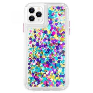 iPhone 11pro  size 5.8. Waterfall confetti case.
